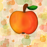 Apple mit Blatt Lizenzfreie Stockfotos