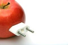 Apple mit Bolzen Lizenzfreie Stockfotos