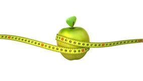 Apple mit einem messenden Band Vier Optionen lizenzfreie abbildung