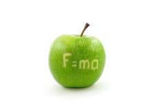 Apple mit Formel lizenzfreies stockfoto