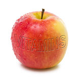 Apple mit Vitaminen Stockbild
