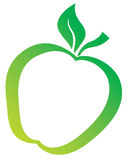 Ilustration verde di Apple Immagini Stock