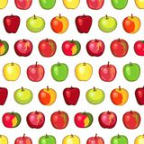 Apple modella su fondo trasparente Fotografie Stock Libere da Diritti