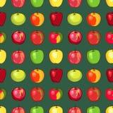 Apple modella su fondo verde Immagine Stock Libera da Diritti