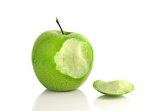 Apple morde Fotografia de Stock Royalty Free
