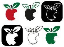 Apple mordido fora ilustração stock