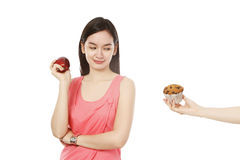 An Apple Or A Muffin? Royalty Free Stock Image