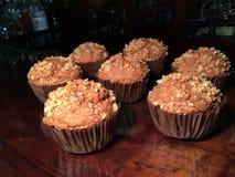 Apple & muffins κανέλας με τα καρύδια Στοκ εικόνες με δικαίωμα ελεύθερης χρήσης