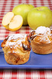 Apple muffins royalty free stock photography