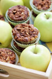 Apple muffins Royalty Free Stock Images