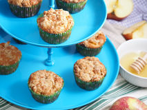 Apple muffins on cake stand Stock Photos