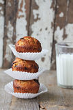 Apple muffins. With chocolate and nuts Royalty Free Stock Photos
