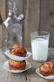 Apple muffins. With chocolate and nuts Royalty Free Stock Photo