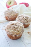 Apple muffins with cinnamon crumb Stock Image