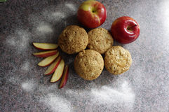 Apple muffins Stock Images