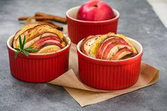 Apple muffins, mini pies. royalty free stock image