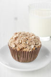 Apple muffins with shtreyzel Stock Images