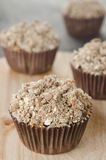 Apple muffins with shtreyzel Royalty Free Stock Photography