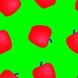 Apple multicolor. Colored apple on blue background Vector Illustration