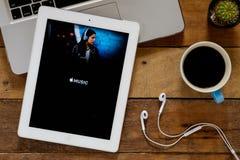 Apple musikapplikation Arkivfoton