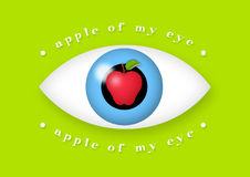 Apple of My Eye Royalty Free Stock Photos