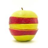 Apple na białym tle Zdjęcia Royalty Free