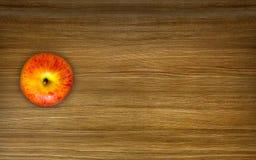 Apple na drewnianym stole Zdjęcie Stock
