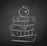 Apple na książkach Obraz Royalty Free