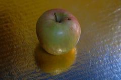 Apple na odbijającej ziemi obrazy royalty free