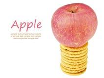 Apple na parte superior Fotos de Stock Royalty Free
