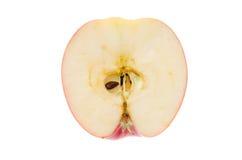 Apple na seção em um fundo branco imagens de stock royalty free