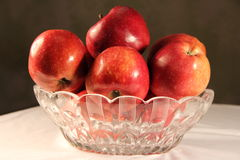 Apple na stole Obraz Royalty Free