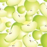 Apple-nahtloser Hintergrund Stockfoto