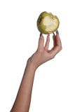 Apple on nails Royalty Free Stock Images