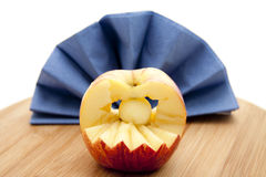 Apple with napkin Royalty Free Stock Images