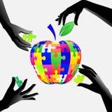 Apple nas mãos um enigma Foto de Stock