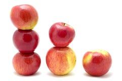 Apple nell'ordine di formato fotografia stock libera da diritti