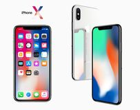IPhone X Apple 2017. A new generation of iPhone Royalty Free Stock Photography