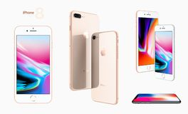 IPhone 8 Apple 2017. A new generation of iPhone. September 2017 Stock Image