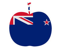 Apple from New Zealand. Detailed and colorful illustration of apple from New Zealand Royalty Free Stock Photo