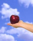 Apple no céu Fotografia de Stock