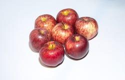 Apple no fundo branco fotografia de stock