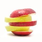 Apple no fundo branco fotografia de stock royalty free