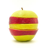 Apple no fundo branco Fotos de Stock Royalty Free