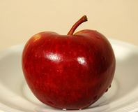 Apple no vermelho Fotos de Stock Royalty Free