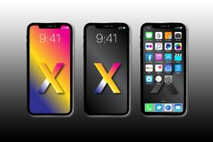 Apple novo IPhone X fotos de stock