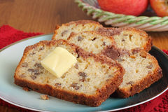 Apple Nut Bread Sliced Royalty Free Stock Images