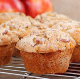 Apple Nut Muffin Closeup Stock Images