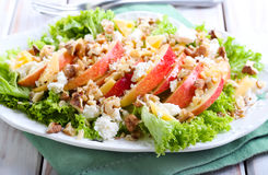 Apple and nut salad Royalty Free Stock Photo