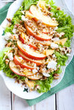 Apple and nut salad Stock Images